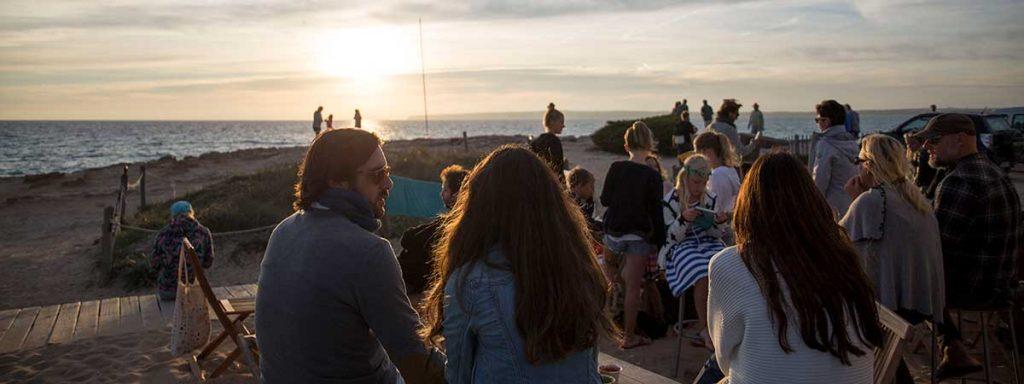 Atardecer en la Playa Es Caló Formentera